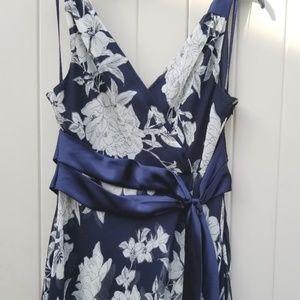 Jones Wear Dresses - Jones Wear Dress navy blue, cream floral SZ 14